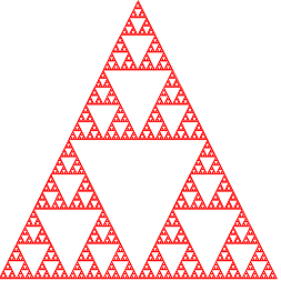 triangle de Sierpiński simple complexe